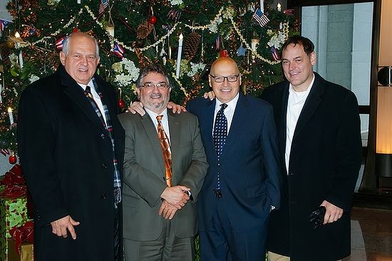 On December 9, 2014, H. Steven Poulos, Aristotle Hutras, Angelo Coutris and former Ohio Congressman Zack Space gather together at the Ohio Capitol–the day of the final passage. Not included in the photograph, but in attendance that day at the Capitol, was Dr. Manuel Tzagournis.