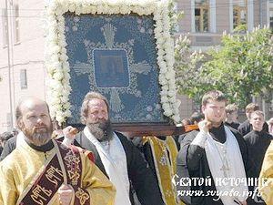 Крестный ход с иконой святителя Николая Ратного