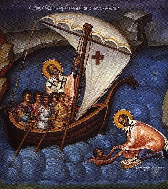Святитель Николай спасает утопающих