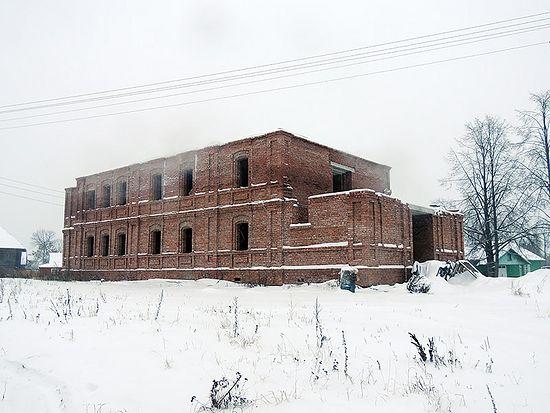 Строящийся храм. Село Новленское Вологодской области