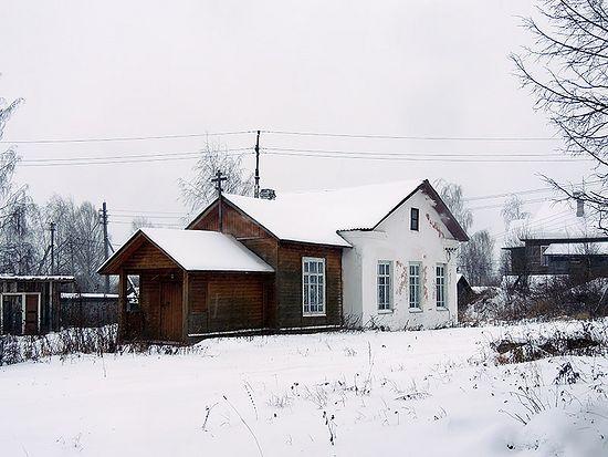 Часовня в честь иконы Богородицы «Избавительница». Село Новленское Вологодской области