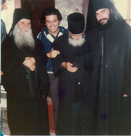 Elder Paisios and the young Fr. Athanasios