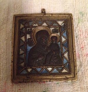 My great grandmother's Theotokos of Smolensk icon