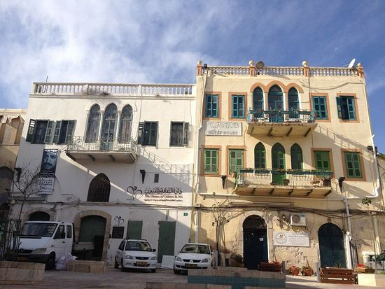 The Al-Mutran guesthouse in Nazareth's market quarter (photo credit: Jessica Steinberg/Times of Israel)