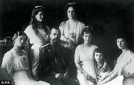 Tsar Nicholas with his family in 1914. The Tsar abdicated his throne to his younger brother Michael. He ruled for a matter of hours before dying alongside his British valet, Nicholas Johnson