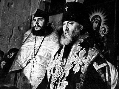 Иерей Александр (мирское имя архимандрита Антония) с патриархом Ефремом