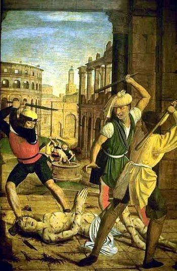 Йос Лиферинкс. Мученичество св. Себастияна. ( 1498 г.)