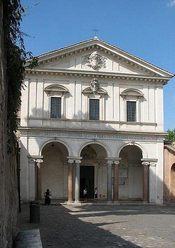 Фасад церкви Сан-Себастьяно-фуори-ле-Мура