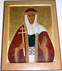 Icon of Saint Argery (Orthodox church of St Cosmus and St Damian. Avignon, France)