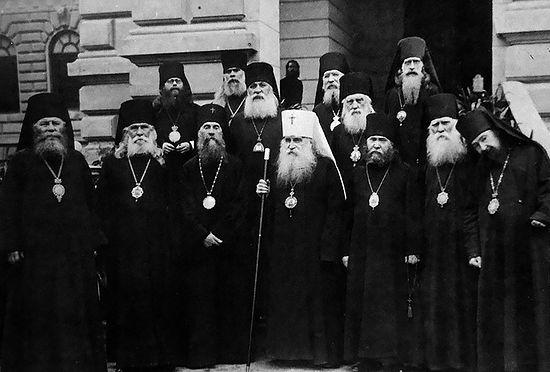 Архиерейский Собор РПЦЗ 1929 г. Крайний справа - епископ Гавриил