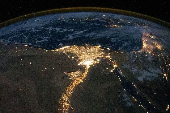 Святая Земля и Египет. Вид из космоса