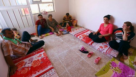Christians have fled violence in parts of Iraq after being ordered to submit to Islamic rule or leave.