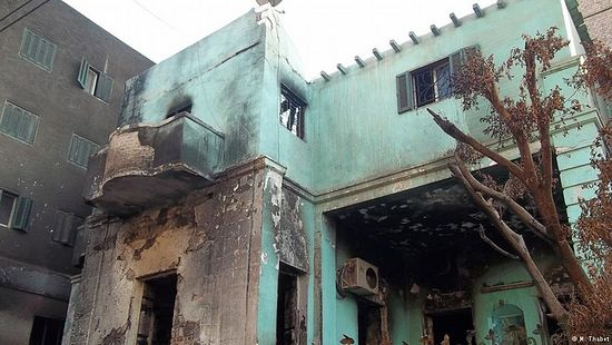Churches were not the only buildings to be burned down in Egypt - a Coptic Christian orphanage also went up in flames.
