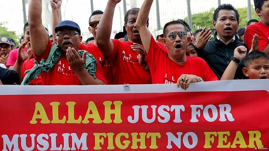 """Muslim demonstrators in Malaysia campaigned for Christians not to be able to use the word """"Allah"""" to refer to God. The country's highest court decided in favor of the ban."""