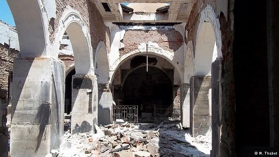 The Prince Tawadros Monastery in Fayoum, Egypt, was set on fire by protesters following the ousting of former president Mohammed Morsi and still stands in ruins.
