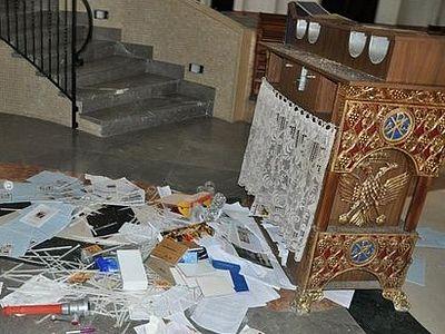 В Хайфе разгромлен православный храм (ФОТО)