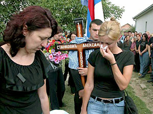 Funeral of Aleksandar Stankovic in Livadje, near Pristina.