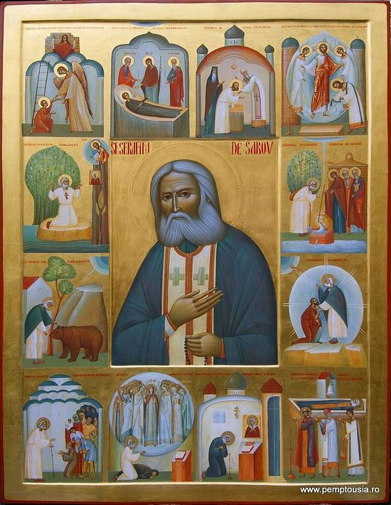 An icon from the Romanian iconographer Ioann Pop, Sihastria Monastery