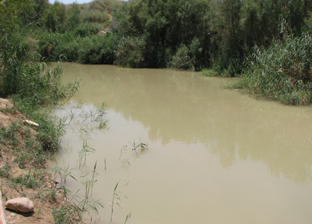 The Jordan River near Bethabara.