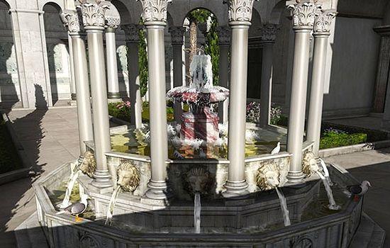 Фонтан в атриуме перед храмом. 3D-реконструкция храма Святой Софии