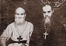 Schema-Archimandrite Seraphim (Romanstov) and Hieroschemamonk Macary (Eremenko), elders from Glinsk Hermitage, who spiritually guided Fr. John during his Riazan years.