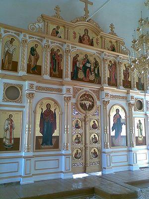 Иконостас храма свт. Николая в с. Сизьма