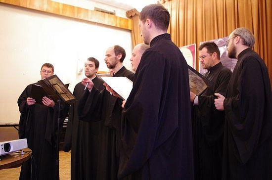 Выступление византийского хора