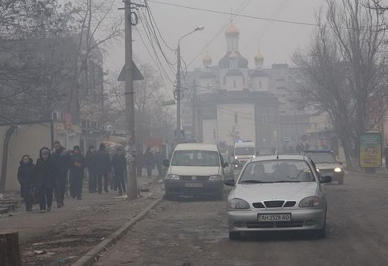 Donetsk under fire. January 2015