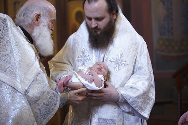 Крещение. Протоиерей Константин Островский, епископ Константин (Островсий), Никита Островский