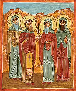 Holy Monk-martyrs Shio the New, Davit, Gabriel, and Pavle of Gareji.