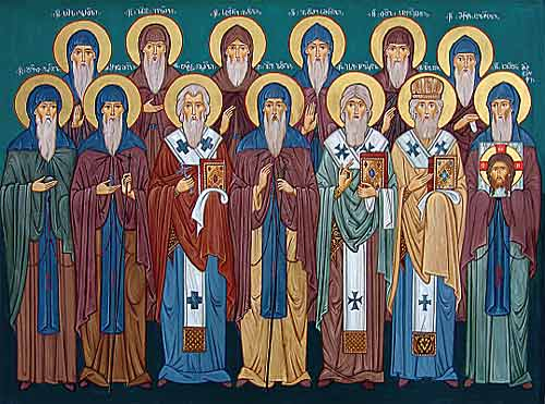 The Holy Thirteen Syrian Fathers. Front row: Davit of Gareji, Shio of Mgvime,