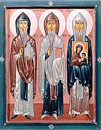Sts. Ioane, Ekvtime, and Gabriel of Mt. Athos.