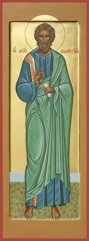 Апостол Андрей Первозванный. Икона А. Мещеровой