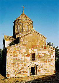 The church at Nikozi, where St. Razhden's relics were laid to rest.