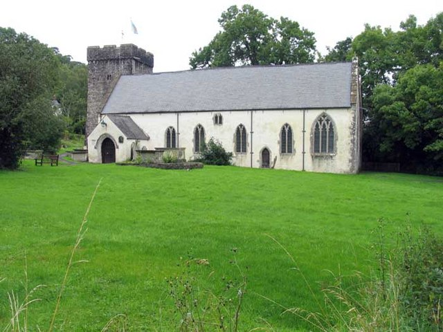 Church of St. Cadoc in Llancarfan, Wales, the site of his monastery.