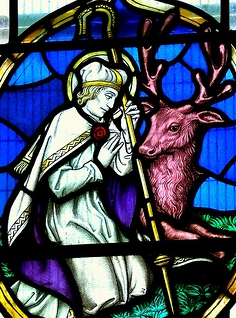 St. Cadoc with the deer.
