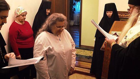 Постриг монахини Людмилы (Пряшниковой). Кадр из фильма
