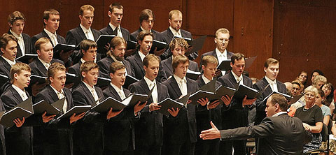 The Moscow Sretensky Monastery Choir performing at Avery Fisher Hall. Photo by Erin Baiano for The New York Times