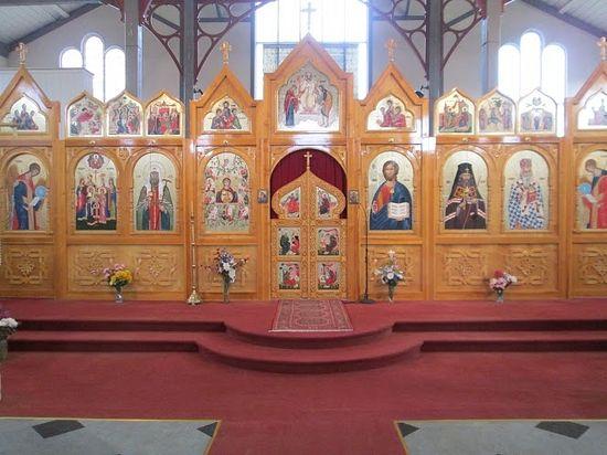 Iconostasis of the Church of St. John of Shanghai.