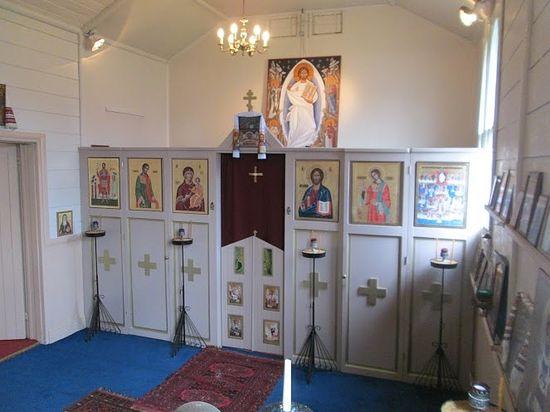 Внутри часовни в честь всех британских и ирландских святых