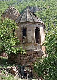 The church of Khandzta Monastery, in present-day Turkey