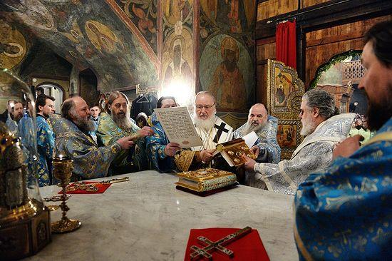 Хиротония архимандрита Фотия (Евтихеева) во епископа Югорского и Няганского
