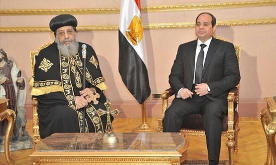 Президент Египта Абдель-Фаттах аль-Сиси посетил Коптского патриарха Феодора II и выразил ему свои соболезнования