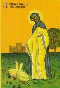 Icon of Venerable Werburgh of Mercia