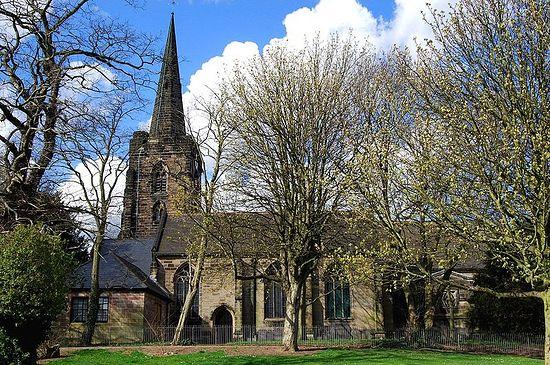St. Werburgh's Church in Spondon, Derbyshire