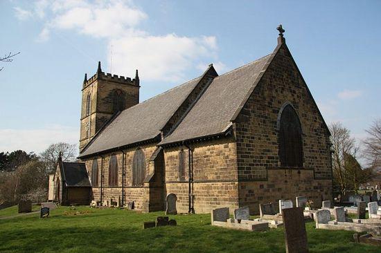 St. Werburgh's Church in Blackwell, Derbyshire