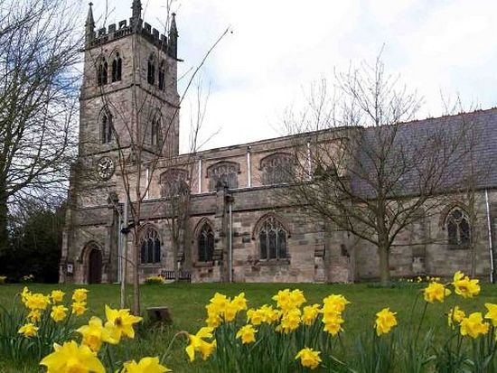 St. Werburgh's Church in Hanbury, Staffordshire