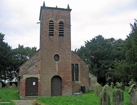 Old Church of St. Werburgh in Warburton, Greater Manchester