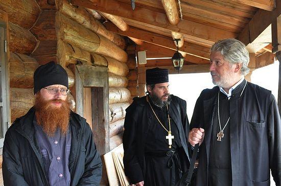 На галерее Покровского храма. Отец Иосиф, отец Паоло и отец Алексий