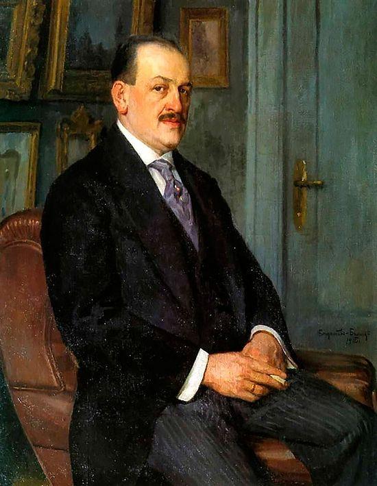 Николай Петрович Богданов. Автопортрет. 1915